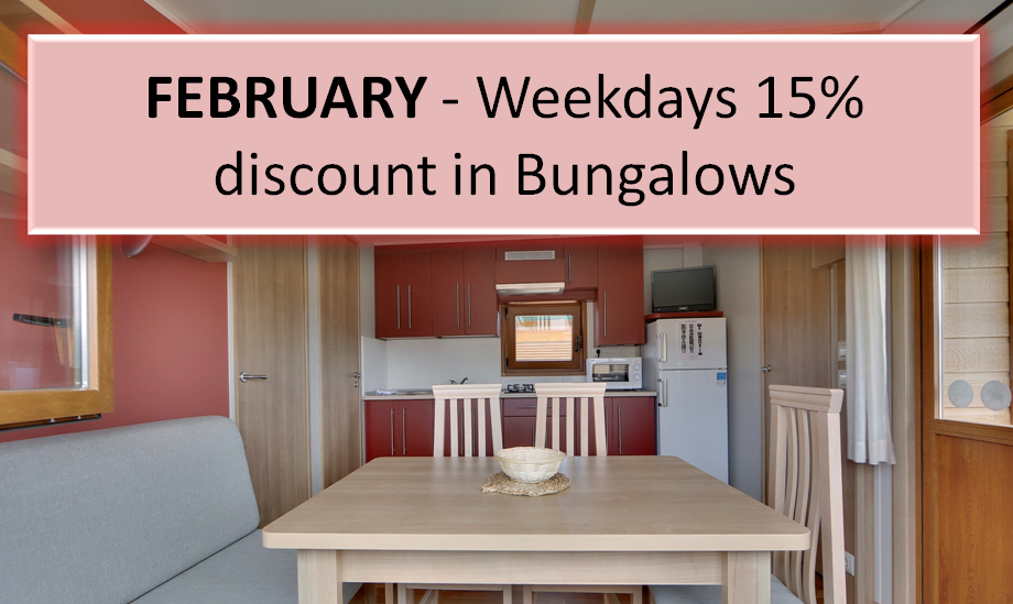 FEBRUARY Weekdays 15 discount Camping Zumaia