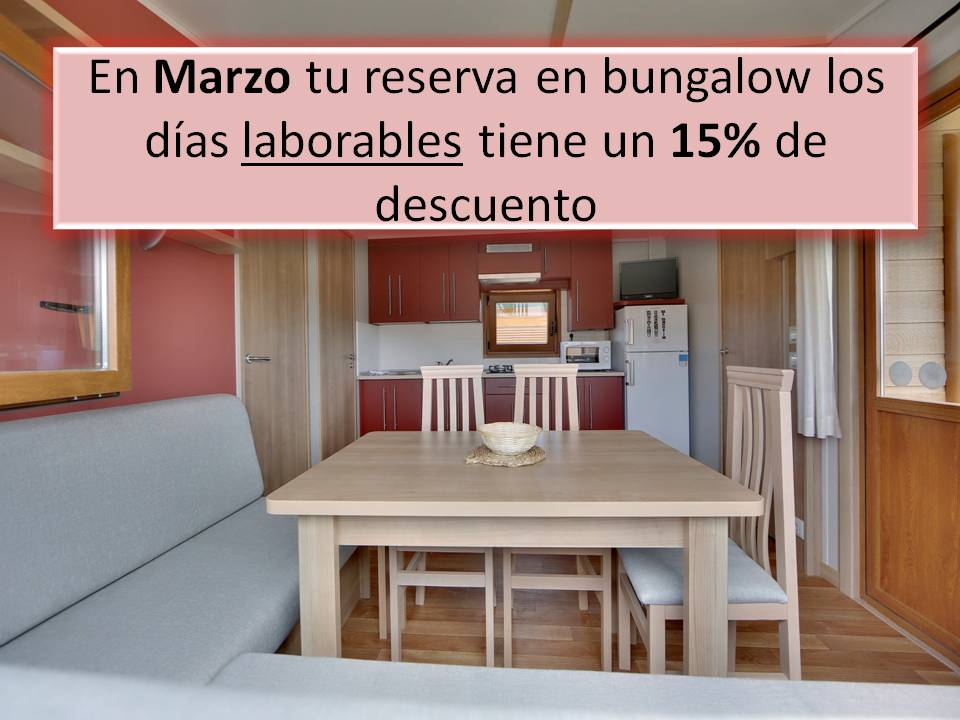 oferta laborables bungalow camping zumaia